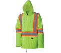 Rain Suit - Hi-Viz Yellow - 2 pc - Poly & PVC / 5599 *PIONEER