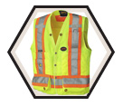 Hi-Viz Safety Vest - Unlined / 150 Denier Woven Twill Polyester