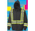 Safety Hoodie - Poly Fleece - Black / 6925BK Series