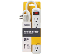 Power Bar - 6 Outlet - White or Black / PB801124 *SNUG PLUG