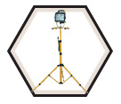 2-in-1 Halogen Work Light w/ Stand - 500W