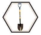Round Point Shovel w/ Hollow Back D-Handle