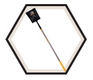 Square Point Shovel w/ Varnished Handle - 9.5""
