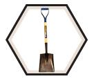 Square Point Shovel w/ Hollow Back D-Handle