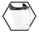 Face Shield - Polycarbonate - Clear / A14 *VIZEN