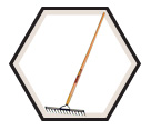 Heavy-Duty Double Back Leveling Rake - 14 Tines
