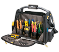 "Lighted Tool Bag - 56 Pocket - 18"" - Poly Fabric / L245"