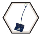 Ergonomic Snow Shovel - Poly - Blue / YP Series *YUKON