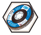 Flap Disc - ALUM/ZIRCONIA - Type 27A Fast Cut