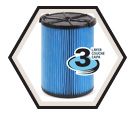 Vacuum Filter - 5-20 gal - 3 Layer / 72952 *VF5000 FINE DUST