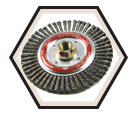 """4"""" - Wire Wheel Brushes - 0.020"""" Stinger Bead Wire *For Steel"""