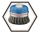 "4"" - Cup Brush - 0.020"" Knot-Twisted Wire *For Stainless Steel"