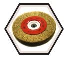 """6"""" x 3/4"""" - Bench Wire Brush - 0.012"""" Crimped Wire *For Brass"""
