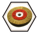 """8"""" x 1"""" - Bench Wire Brush - 0.012"""" Crimped Wire *For Brass"""
