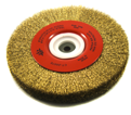 "10"" x 1"" - Bench Wire Brush - 0.012"" Crimped Wire *For Brass"