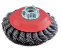"""5"""" - Saucer cup Brush - 0.020"""" Knot-Twisted Wire"""