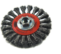 "6"" - Wire Wheel Brushes - 0.020"" Knot-Twisted Wire"