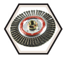 """4-7/8"""" - Wire Wheel Brushes - 0.020"""" Stinger Bead Wire *For Steel"""