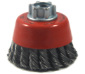 """2-3/4"""" - Cup Brush - 0.015"""" Knot-Twisted Wire *For Steel"""