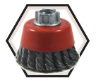 "2-3/4"" - Cup Brush - 0.015"" Knot-Twisted Wire *For Steel"