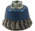 "2-3/4"" - Cup Brush - 0.020"" Knot-Twisted Wire *For Stainless Steel"