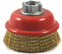 "3"" - Cup Brush - 0.012"" Crimped Wire *For Brass"