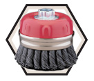 "4"" - Cup Brush - 0.020"" Knot-Twisted Wire *For Steel"