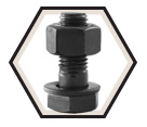 "Structural Bolt 3/4"" UNC - w/A563 DH Nut / Plain A325"