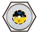 "Type C6W ""TURBO BLADE"" Diamond Dry Cut"