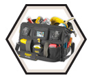 "Stereo Tool Bag - 39 Pocket - 18"" - Poly Fabric / A233"