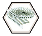 Flat Head - #8 Robertson Collated Decking Screws / Green Exterior