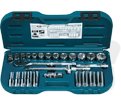 "Chrome Socket Set - 1/2"" - 6 Point / 13628 *28 Pc"