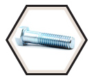 "Hex Head Cap Screw 7/16"" UNC - Grade 5 / Zinc"