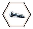 Hex Head Cap Screw M7 Diameter - Metric / Zinc