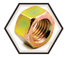Hex Nut - Grade 8 / Yellow Zinc