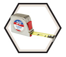 "1"" x 20' - Power Return Tape Measure"