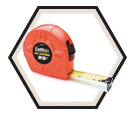"1"" x 25' - Hi-Viz® Self-Centering Power Return Tape Measure"
