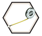 "1/4"" x 6' - Executive® Diameter Pocket Tape Measure"