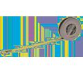 6mm x 2m - Executive® Diameter Pocket Tape Measure