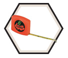 "1/4"" x 6' - Pee Wee® Hi-Viz® Pocket Tape Measure"