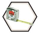 "1/2"" x 8' - Mezurall® Power Return Tape Measure"