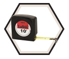 "1/2"" x 10' - Mezurall® Economy Power Return Tape Measure"