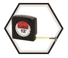 "1/2"" x 12' - Mezurall® Economy Power Return Tape Measure"