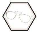 Prescription Lens Insert - Silver - Stainless Steel / S3350 *GENESIS XC