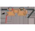 Tool Belt - 12 Pocket - Suede Leather / AP527X