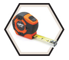 "1"" x 33' - Hi-Viz® P1000 Series Tape Measure"