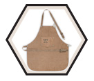 Full Bib Leather Apron / AP601