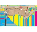 Tool Belt - 11 Pocket - Split Leather / AP625 *TOOLWORKS