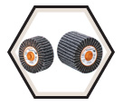 "Flap Wheel - Non-Woven & Zirconium - 4-1/2"" Dia. / TWO-IN-ONE™"