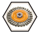 "Wire Wheel Brushes - 0.020"" Knot-Twisted Wire *For Steel"